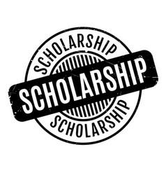 Scholarship rubber stamp vector