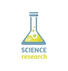 Science research logo design flat vector