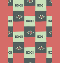 Seamless pattern traditional african patchwork vector