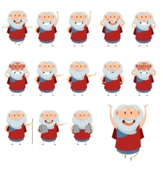 Set of Moses icons3 vector image