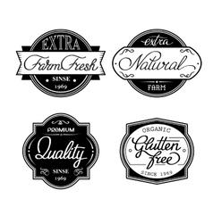set of universal bottle labels vector image