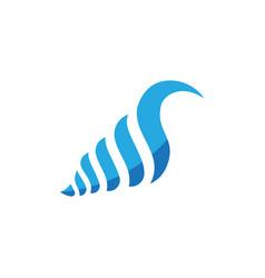 shell icon design vector image