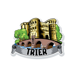 sketch city trier in germany cityscape with vector image