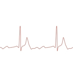 Sseamless ECG graph on white background vector