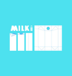 Stock template box for milk vector