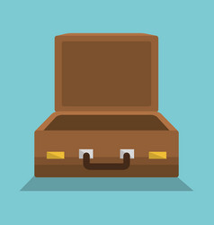 suitcase travel vacations icon vector image