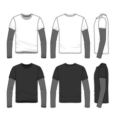 T-shirt with layered sleeve vector