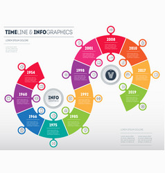 timeline business infographic concept with 12 vector image