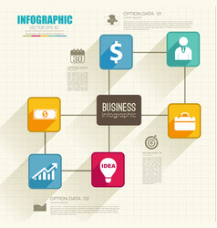 web infographic business template vector image