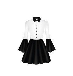 white and black women dress vector image