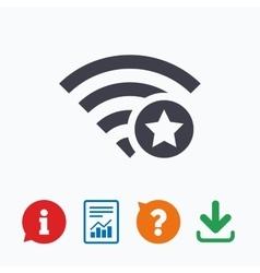 Wifi star sign Favorite Wi-fi symbol Wireless vector image