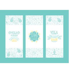 yoga ayurvedic medicine studio banner templates vector image