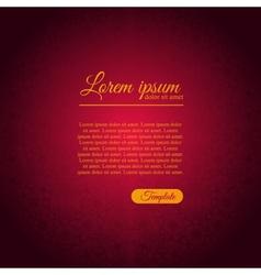 Invitation elegant template with purple ornament vector image vector image