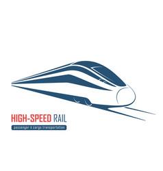 modern high speed rail emblem icon label vector image