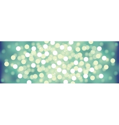 Turquoise festive lights background vector image vector image