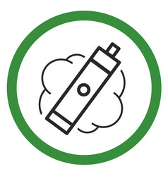 Allow sign electronic cigarette smoking vector