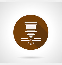 automatic welding laser brown round icon vector image vector image