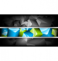 background with cubes vector illustration vector image vector image