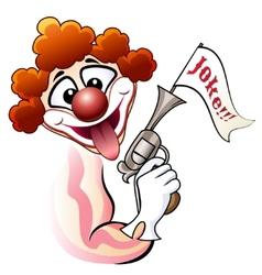 Clown with a gun vector image