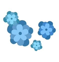Flower icon nature flat vector image