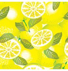 lemon background vector image vector image