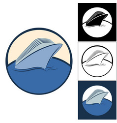 logos of cruise ships vector image