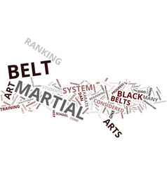Martial art belt ranks where did they come from vector