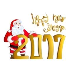 Santa Claus congratulating vector image vector image