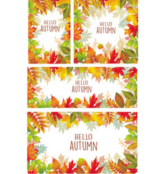 set of banner of autumnal leaves vector image vector image