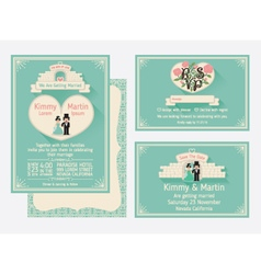 Wedding Invitation Design With The Gate Of Love vector image vector image