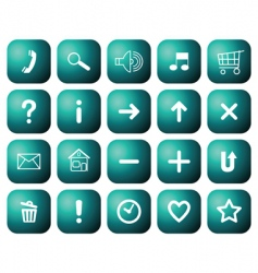 buttons with symbols for websites vector image vector image