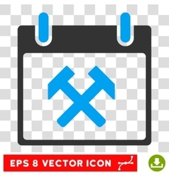 Hammers Calendar Day Eps Icon vector image