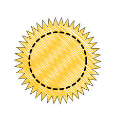 stamp round label vector image