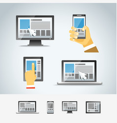 Using modern digital devices vector image vector image