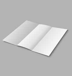 blank paper folded leaflet 3d white blank vector image