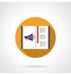 Digital marketing round flat color icon vector image vector image