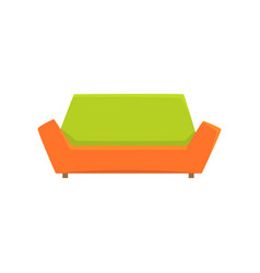 green and orange sofa or couch living room or vector image vector image