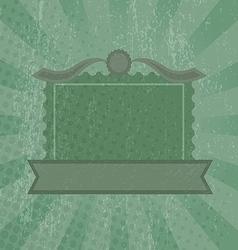 Green grunge retro background vector image