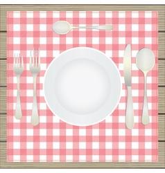 Table setting etiquette vector