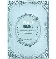 vintage label with grunge vector image