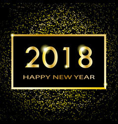2018 new year shining banner vector image