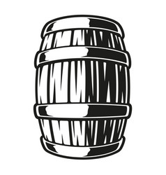 a barrel beer vector image