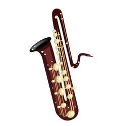 A Musical Bass Saxophone vector image