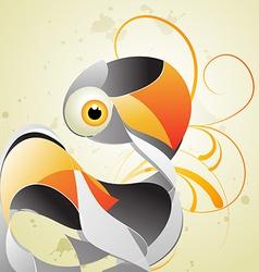 Artistic swan vector