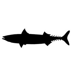 Atlantic Mackerel silhouette vector