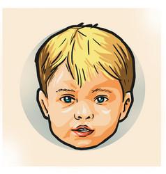 Baby head mascot design vector