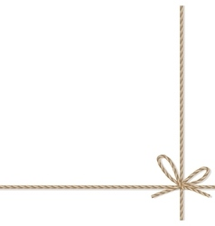 Background with rope bow and ribbons vector