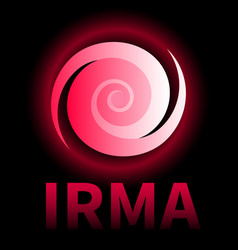 banner of hurricane irma icon sign symbol vector image