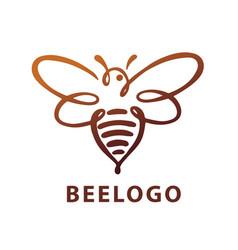 bee logo bee honey vector image