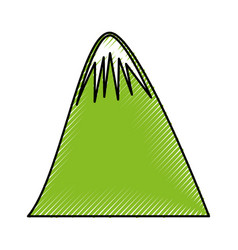 Big mountain drawing icon vector